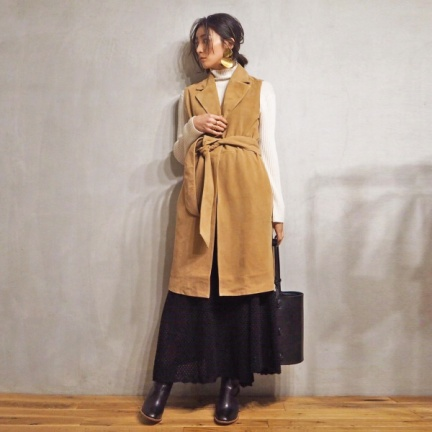 TODAYFUL(トゥデイフル) |Sleeveless Suede Coat