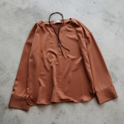 TODAYFUL(トゥデイフル) |Skipper Satin Shirts(サン)