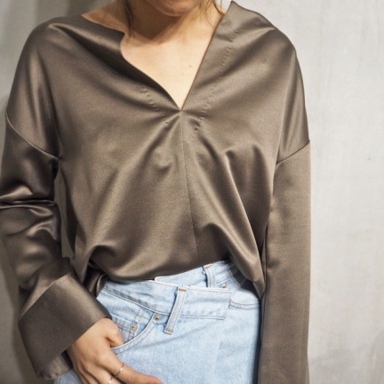TODAYFUL(トゥデイフル) |Skipper Satin Shirts