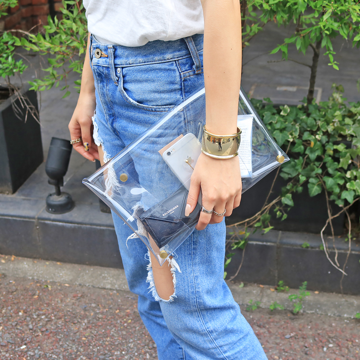 Clear Clutch Bag