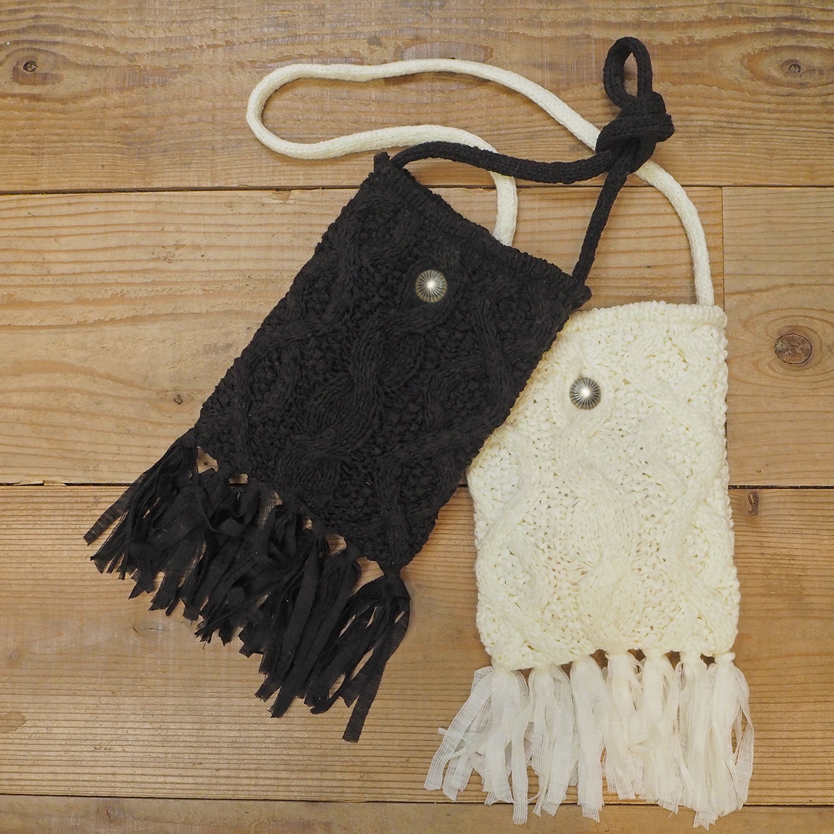 Knit Fringe Bag