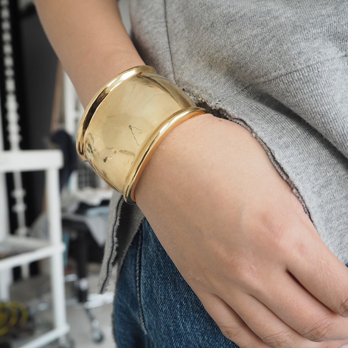 Metal Bend Bangle