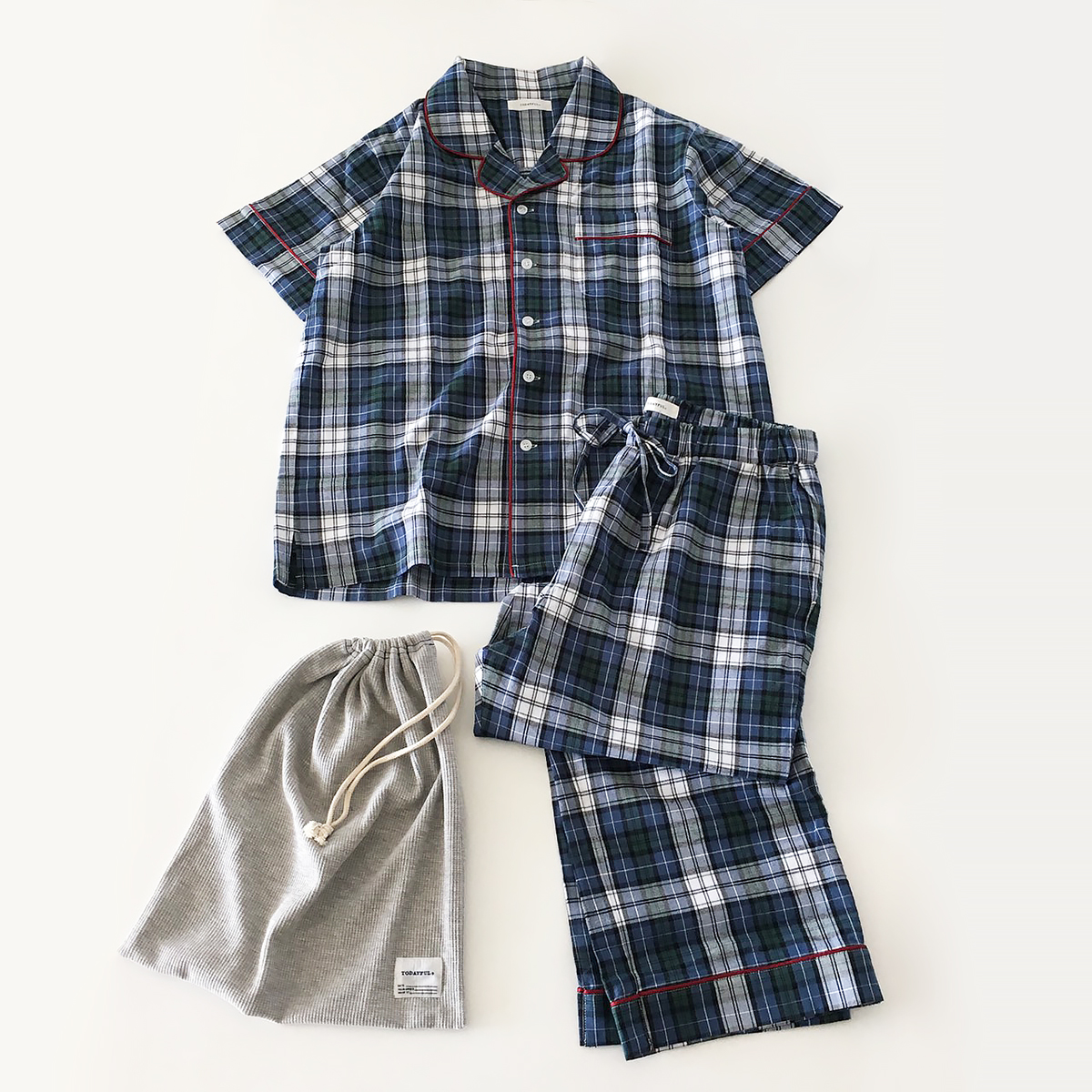 Check Pajamas Set (men's)