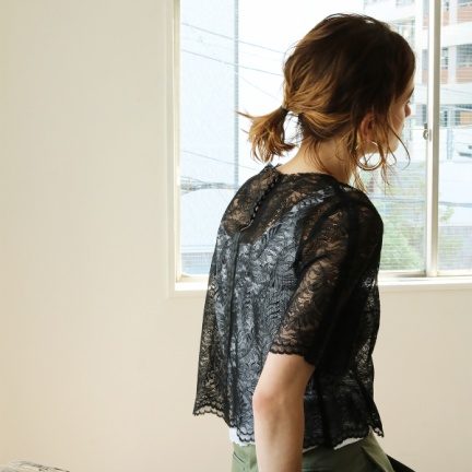 Sheer Lace TOPS(ブラック)