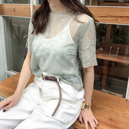 TODAYFUL(トゥデイフル) |Sheer Lace TOPS