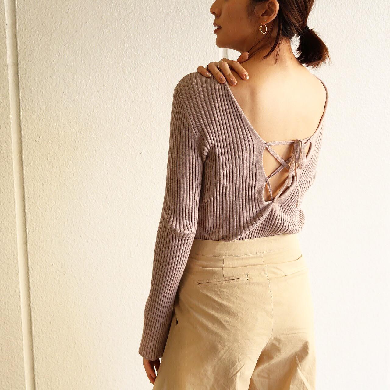2Way Lace-up Knit