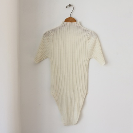 TODAYFUL(トゥデイフル) |Turtle Knit Rompers(オフホワイト)