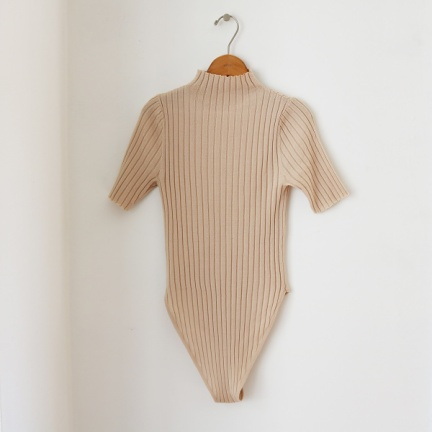 TODAYFUL(トゥデイフル) |Turtle Knit Rompers(ヌード)