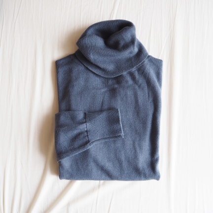 TODAYFUL(トゥデイフル) |Highgauge Turtle Knit(ブルー)