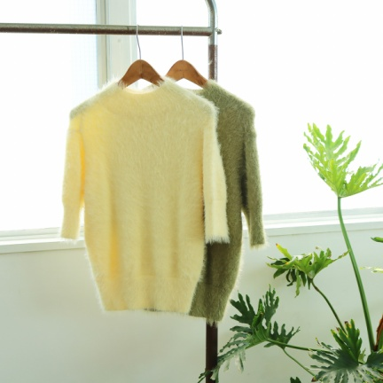 Shaggy Half Knit(イエロー)