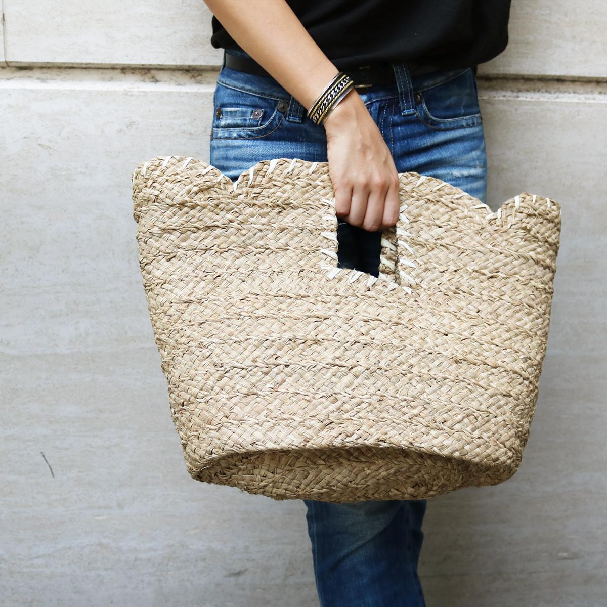 Stitch Raffia Bag