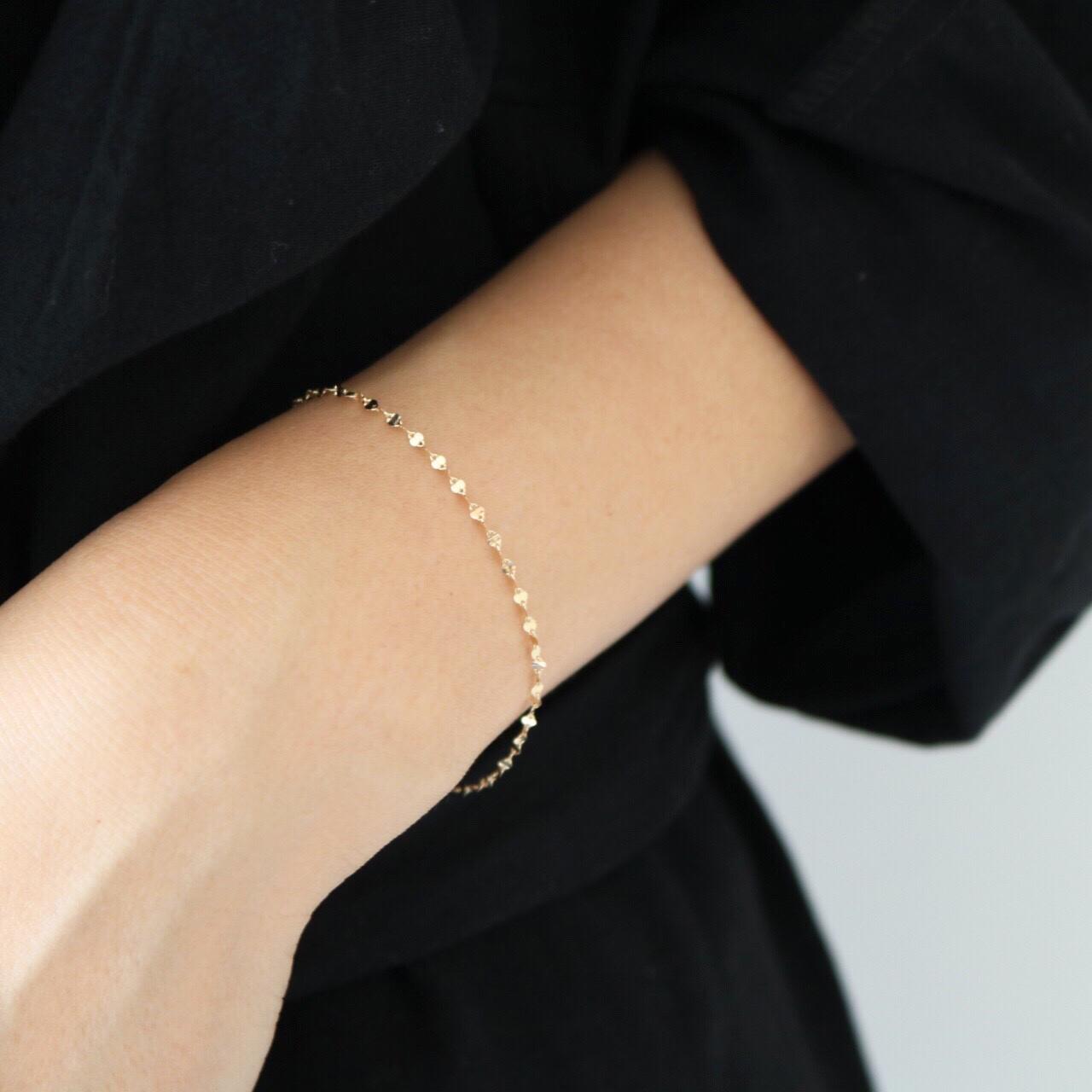 10K Eclairchain Bracelet