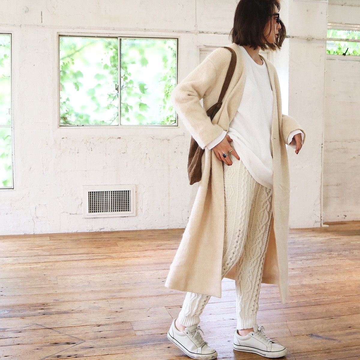 Sliver Knit Coat