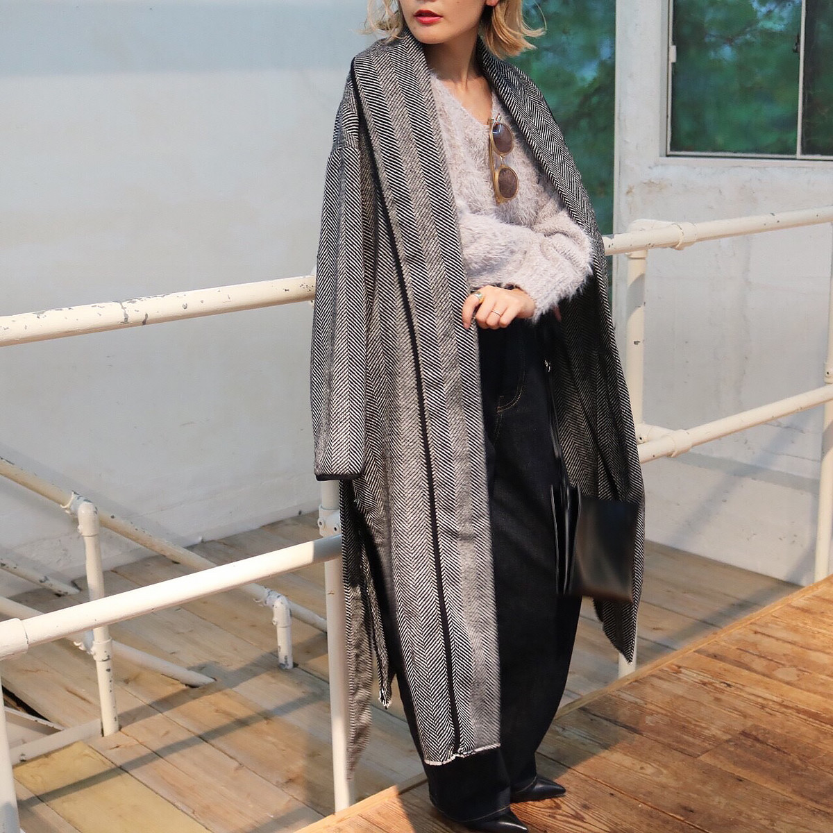 Herringbone Gown Coat