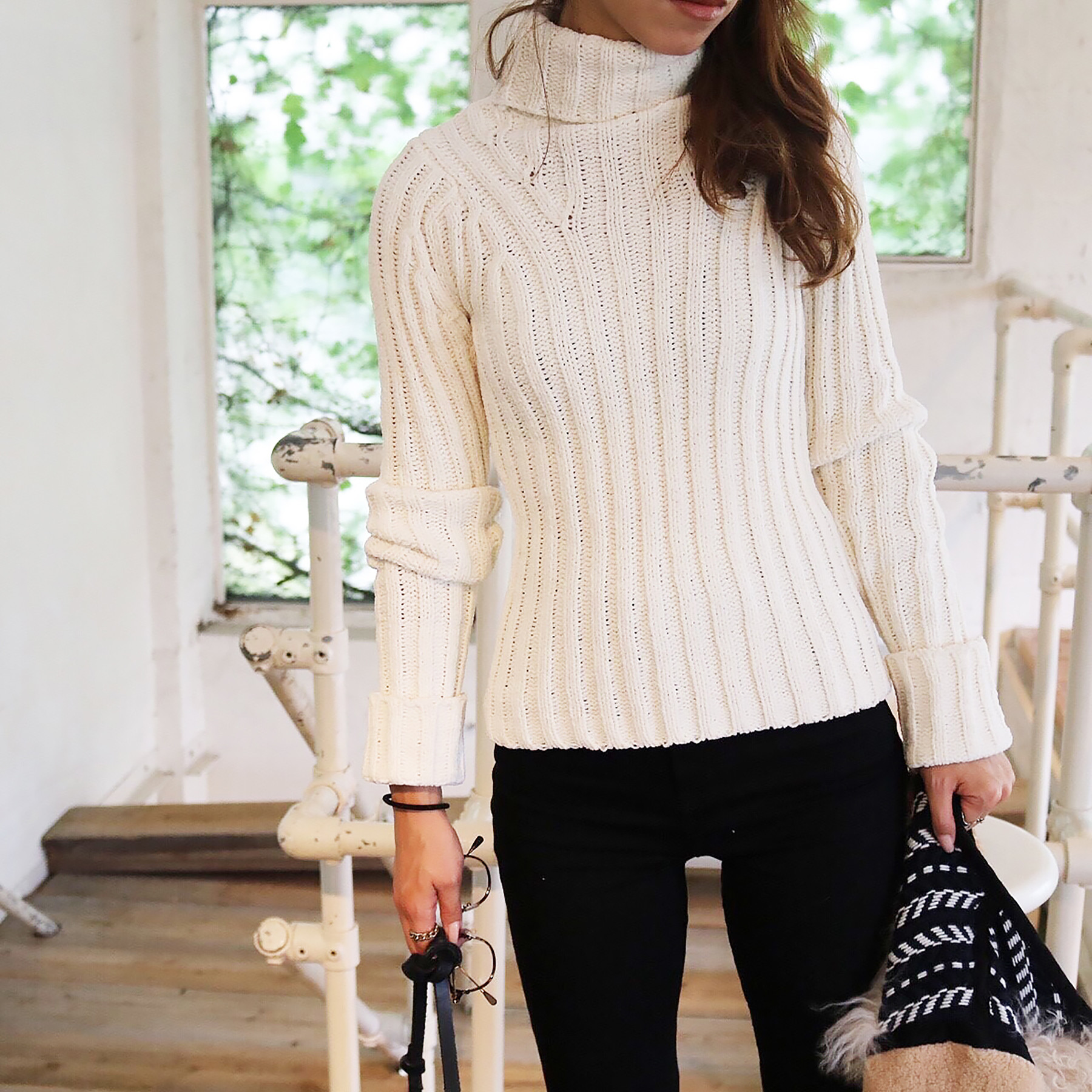 Wide Rib Turtleknit