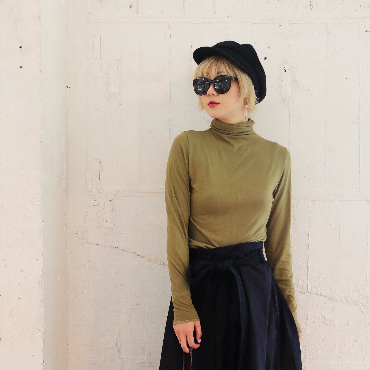 Turtleneck Long Tee