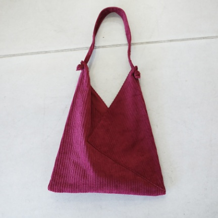 TODAYFUL(トゥデイフル) |Corduroy Triangle Bag(ピンク)