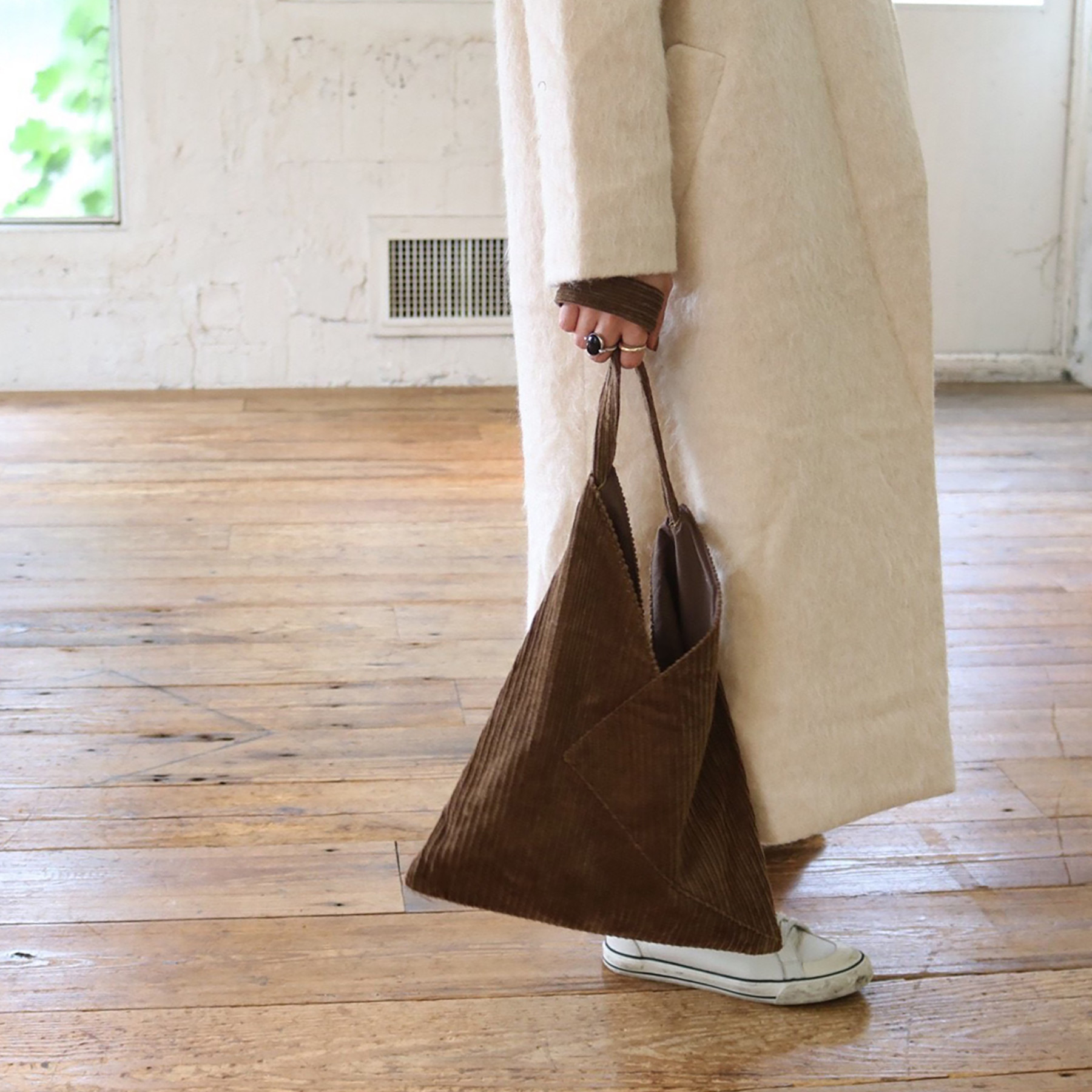 Corduroy Triangle Bag