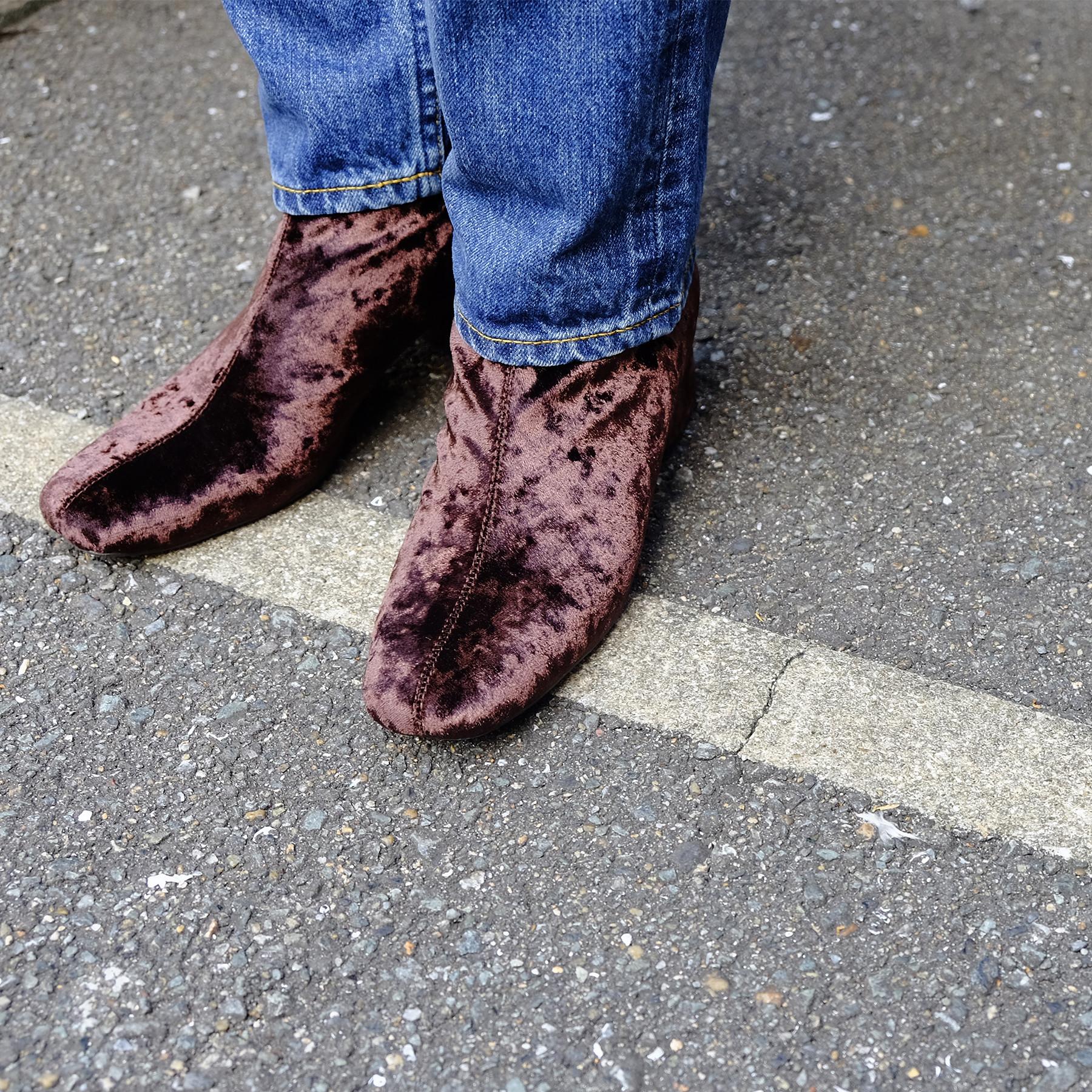 Velvet Socks Boots