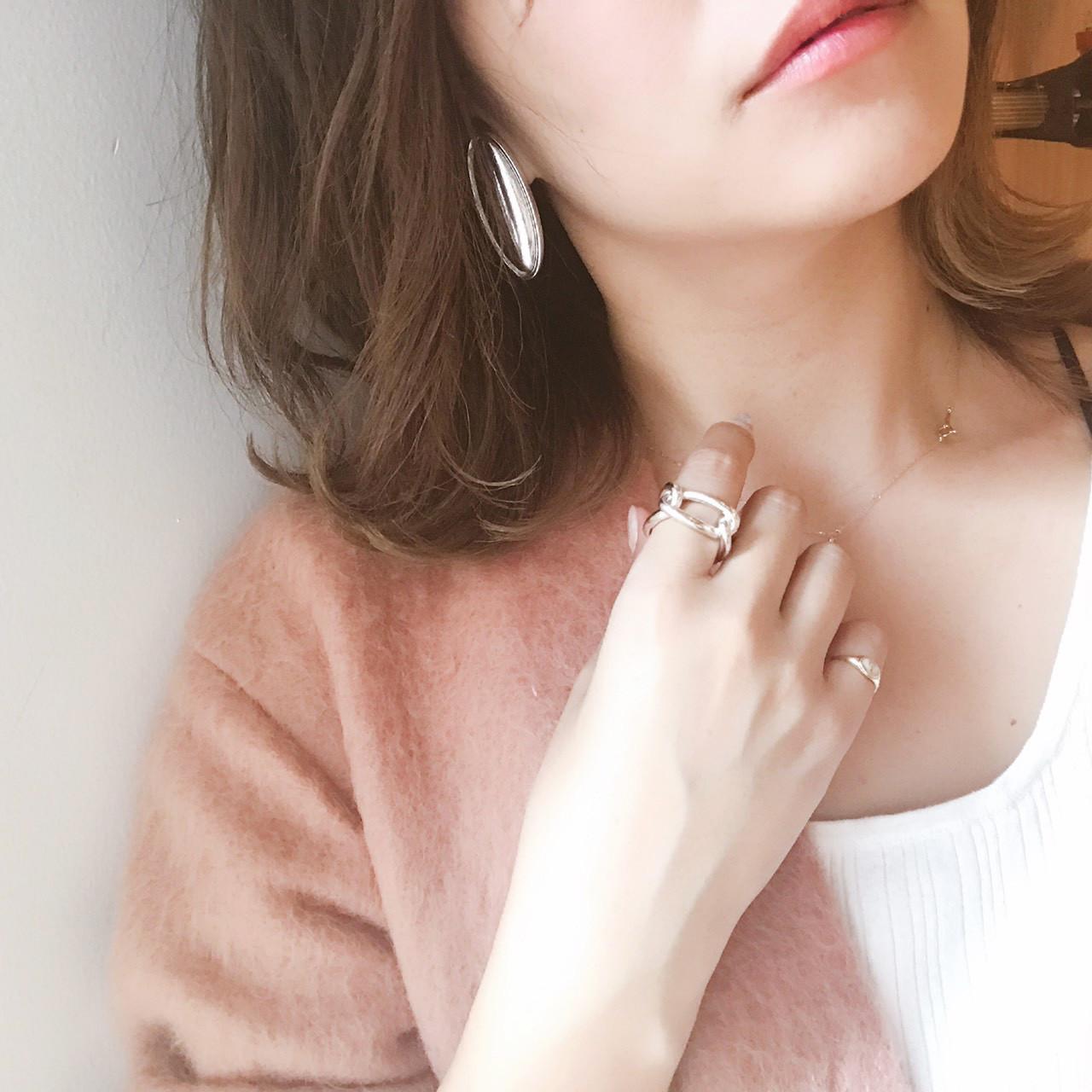 Silver Oval Earring