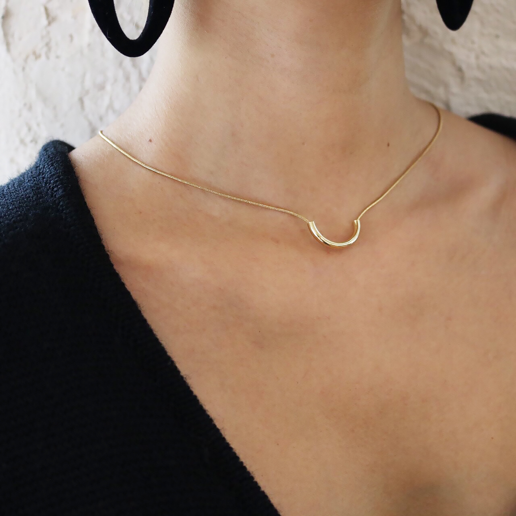 Semicircle Chain Necklace