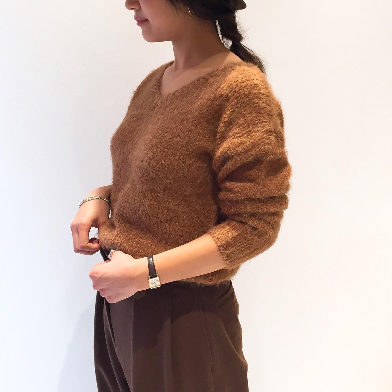 Feather Vneck Knit
