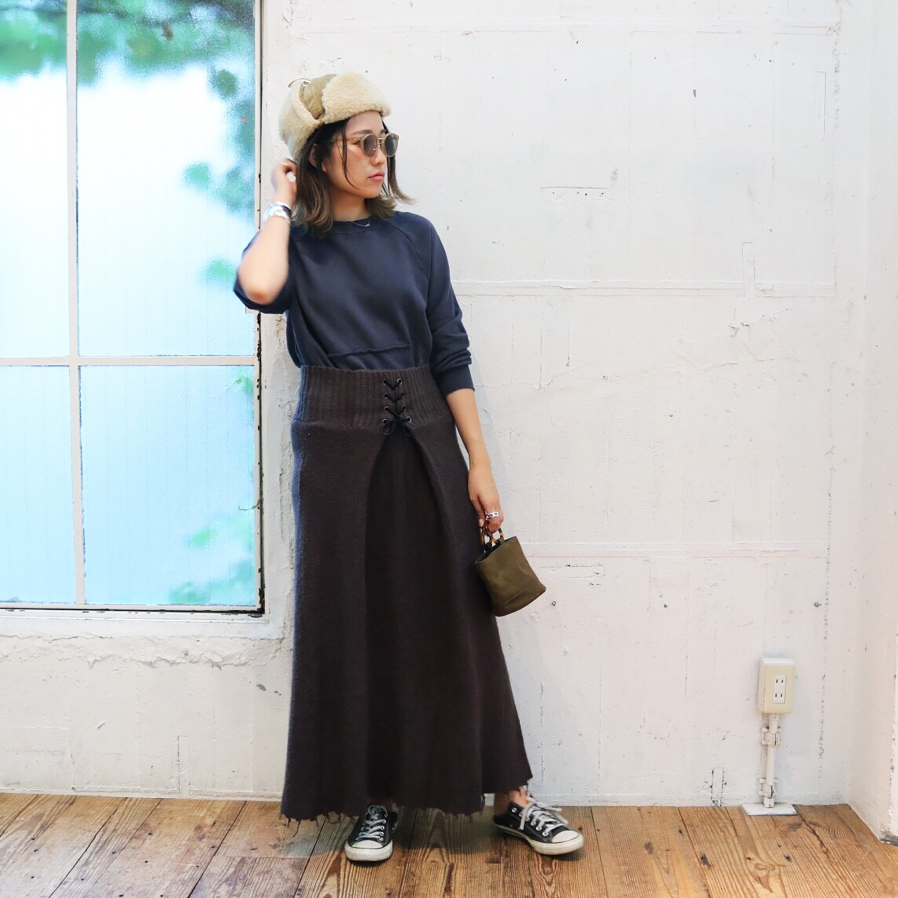 Lace-up Knit SK