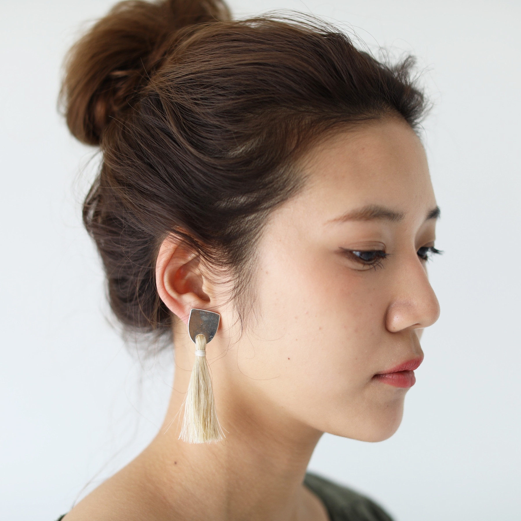 Horse Hair Earring