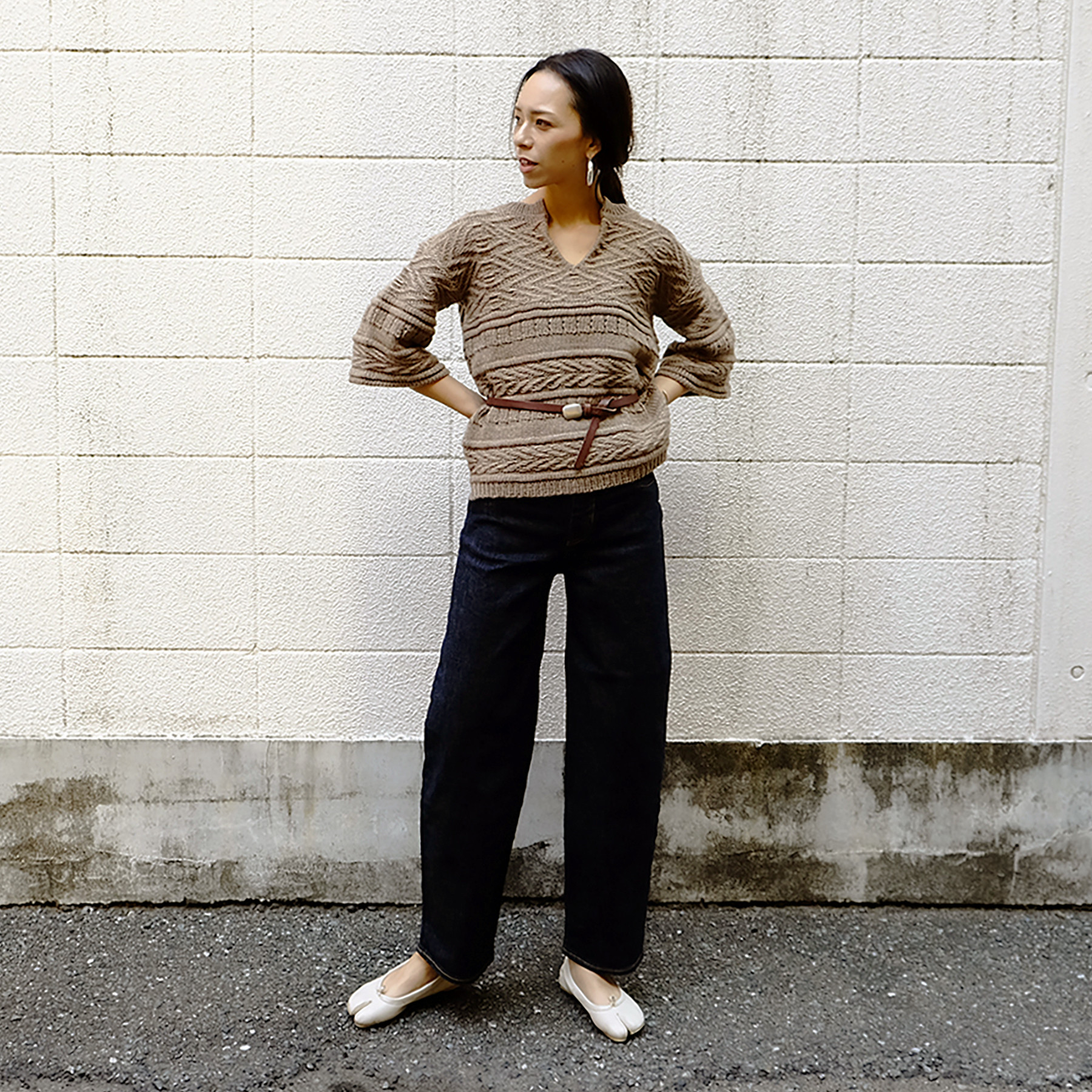 Keyneck Pattern Knit