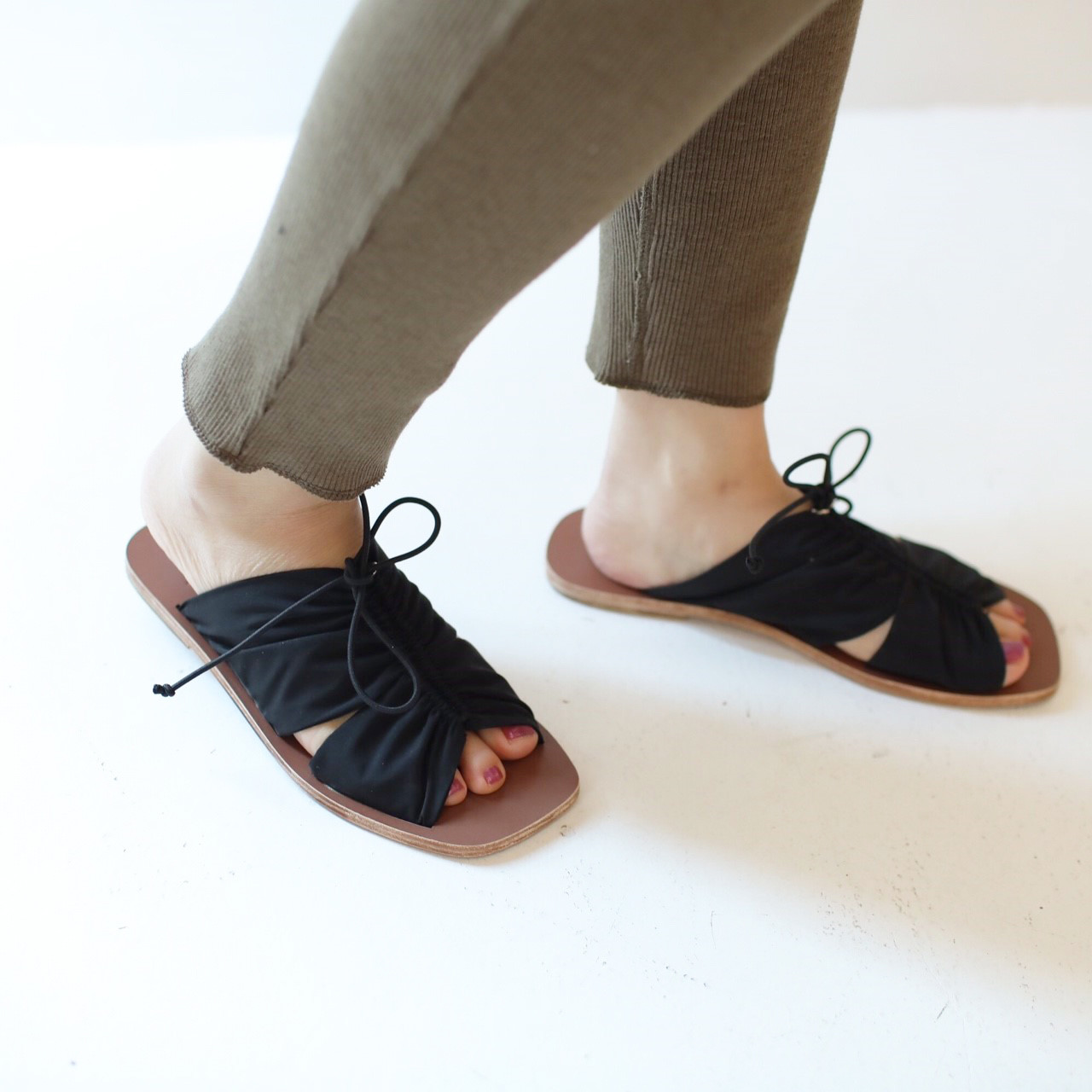Gather Flat Sandals