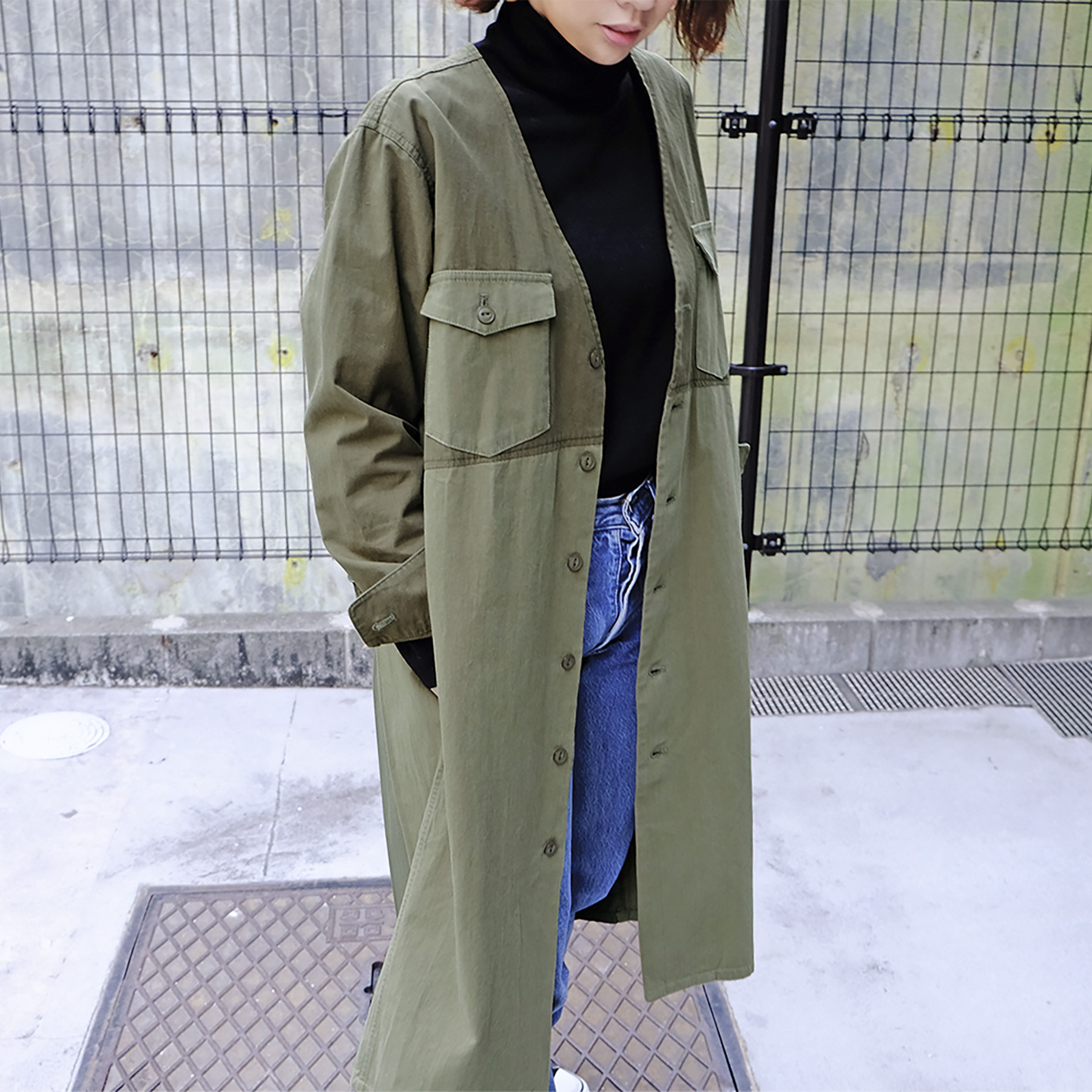 Pleats Work Coat