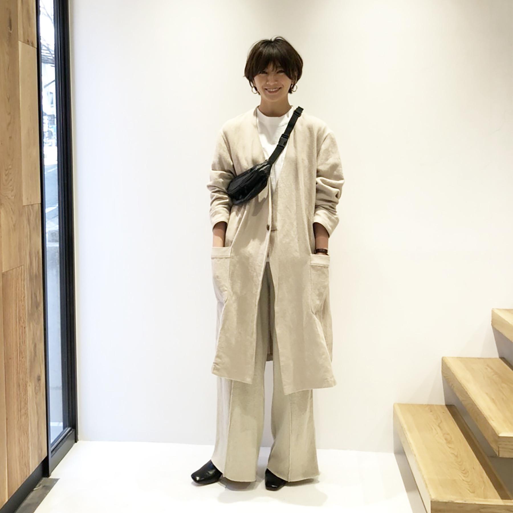 Herringbone Linen Gown
