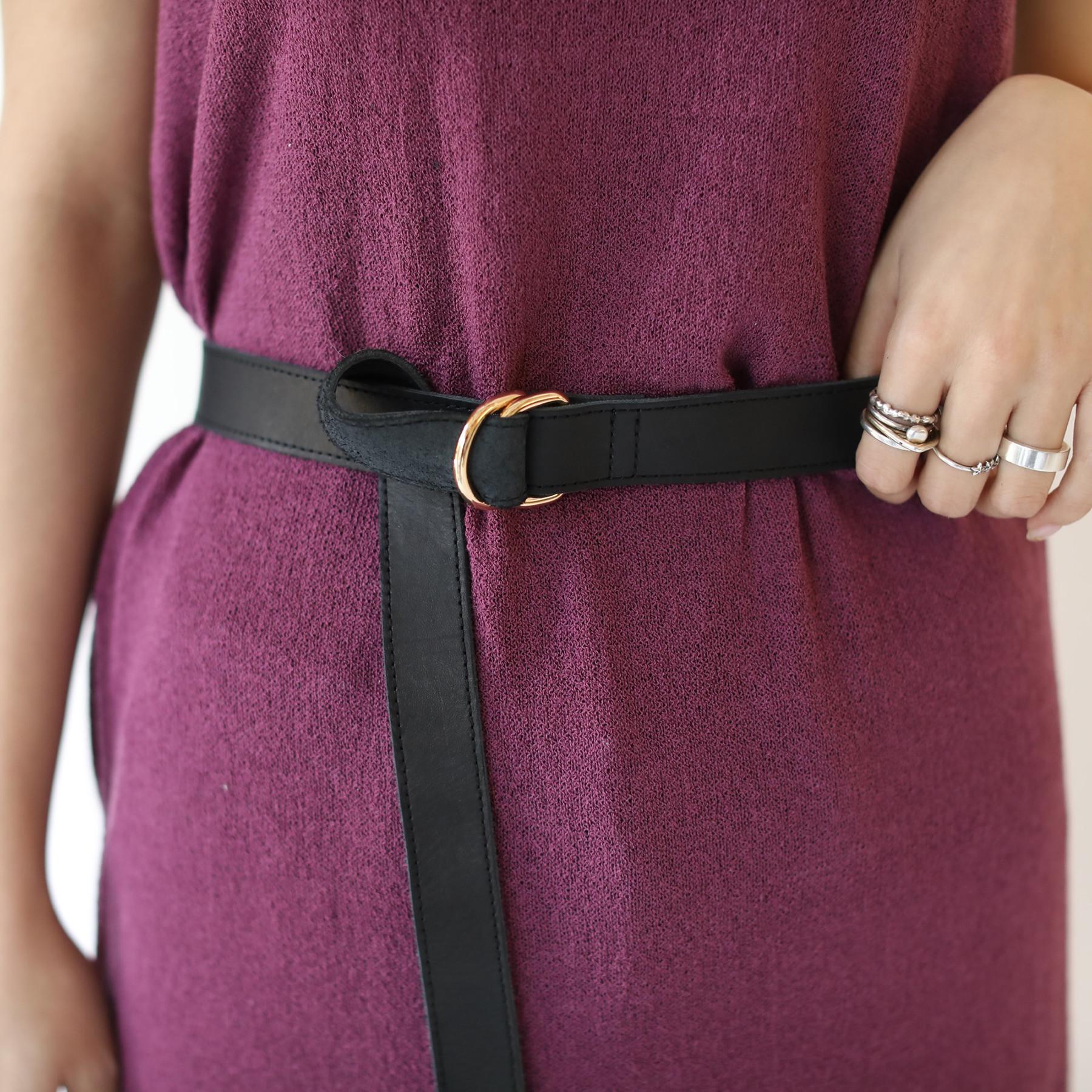 Wbuckle Leather Belt