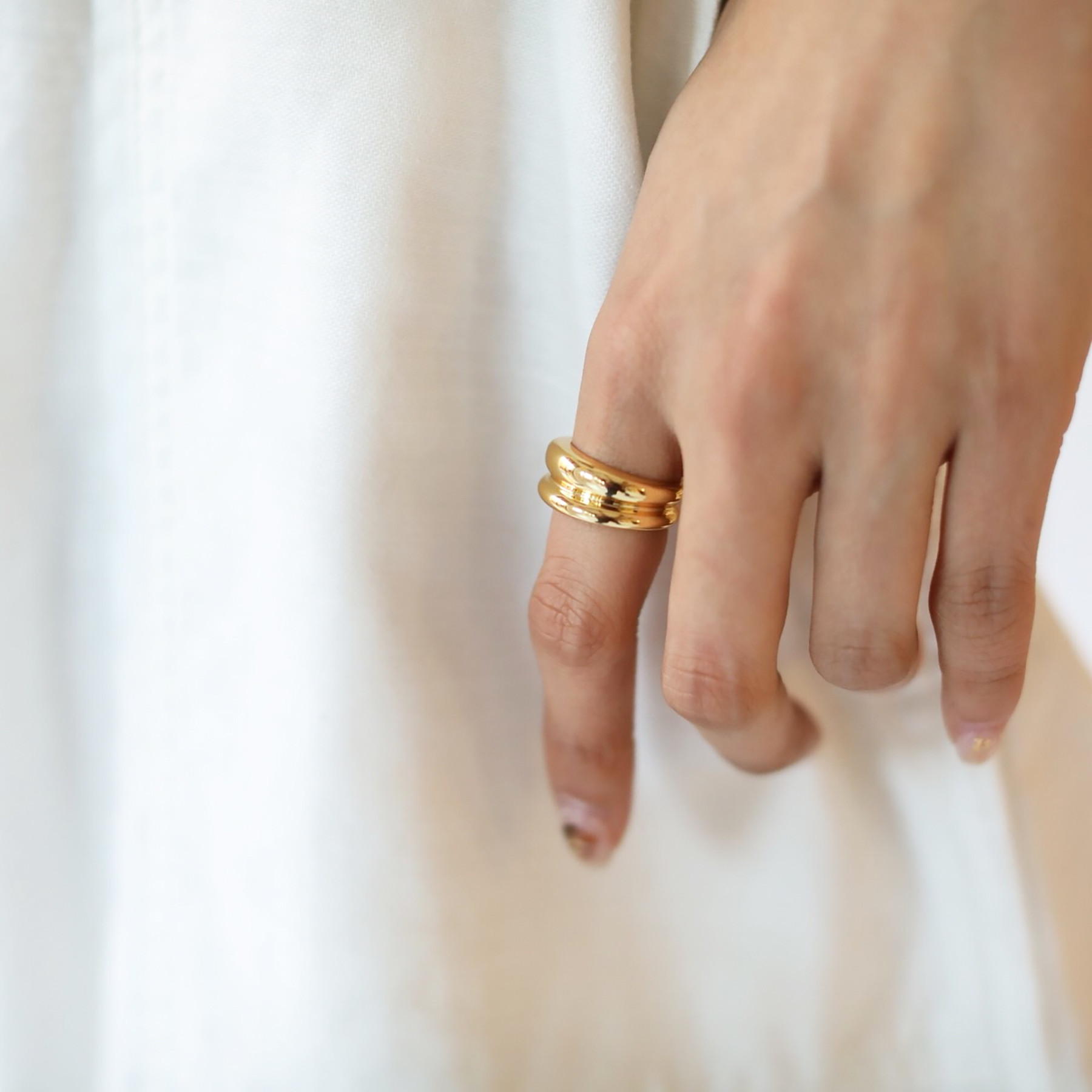 Layered Wide Ring