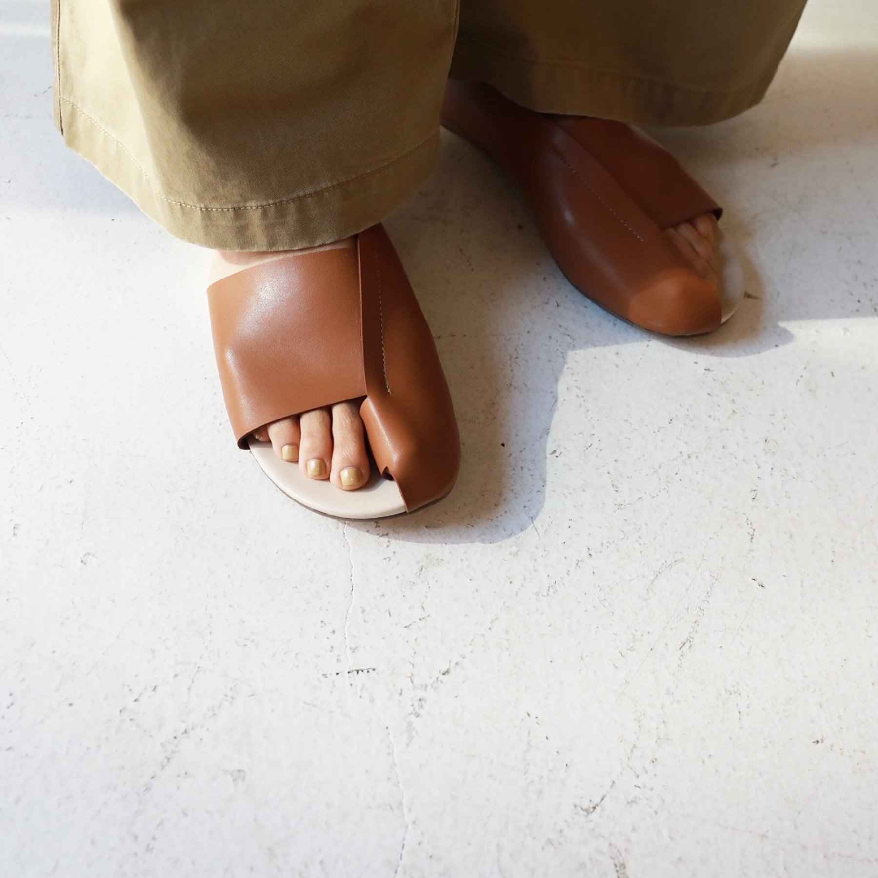 Softleather Asymmetry Sandals