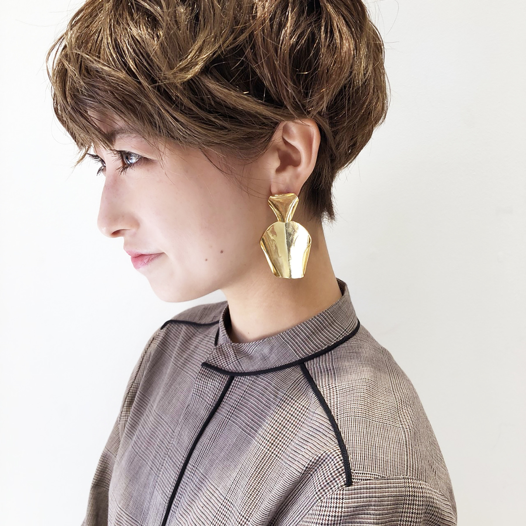 Plate Curve Earring