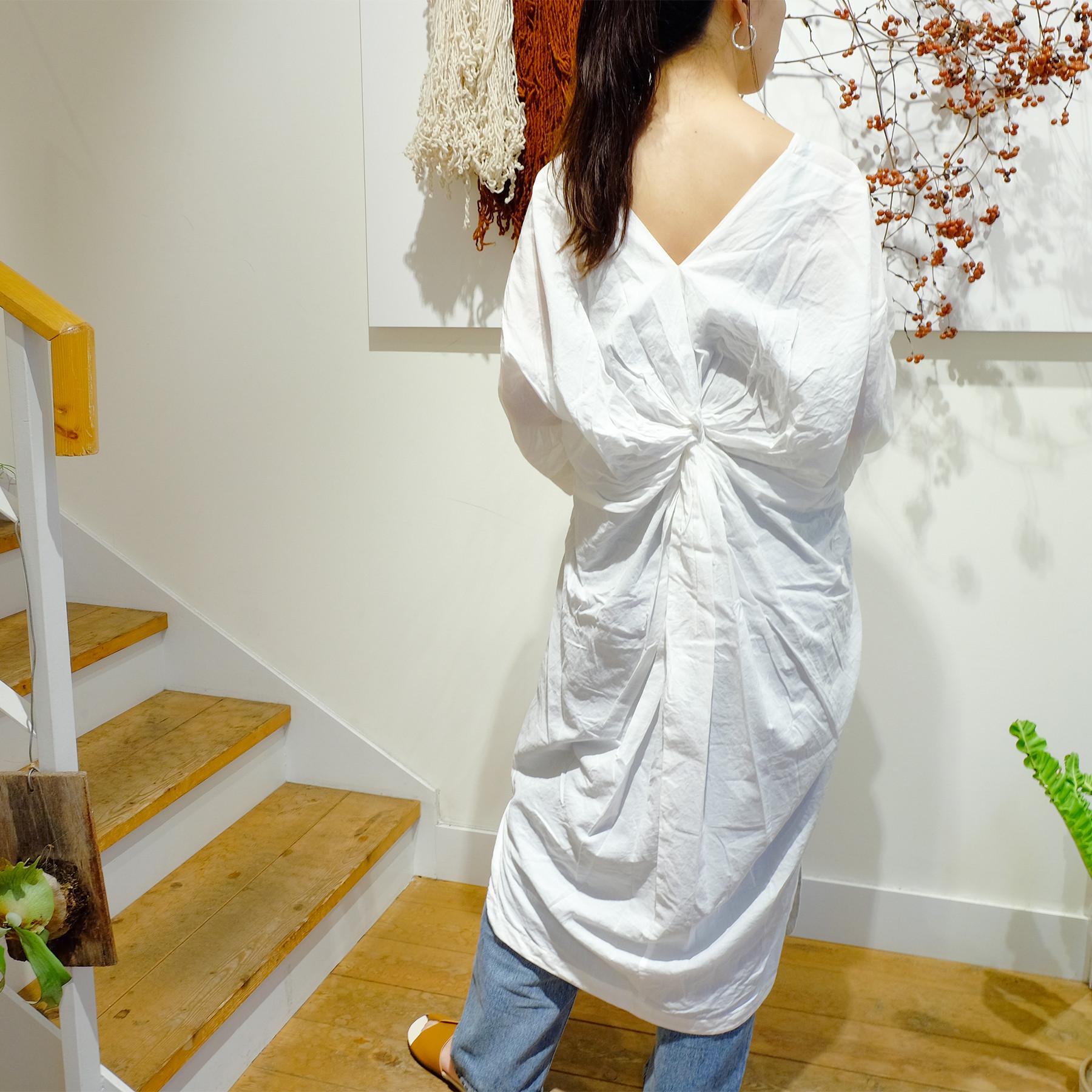 Backtwist Cotton Dress