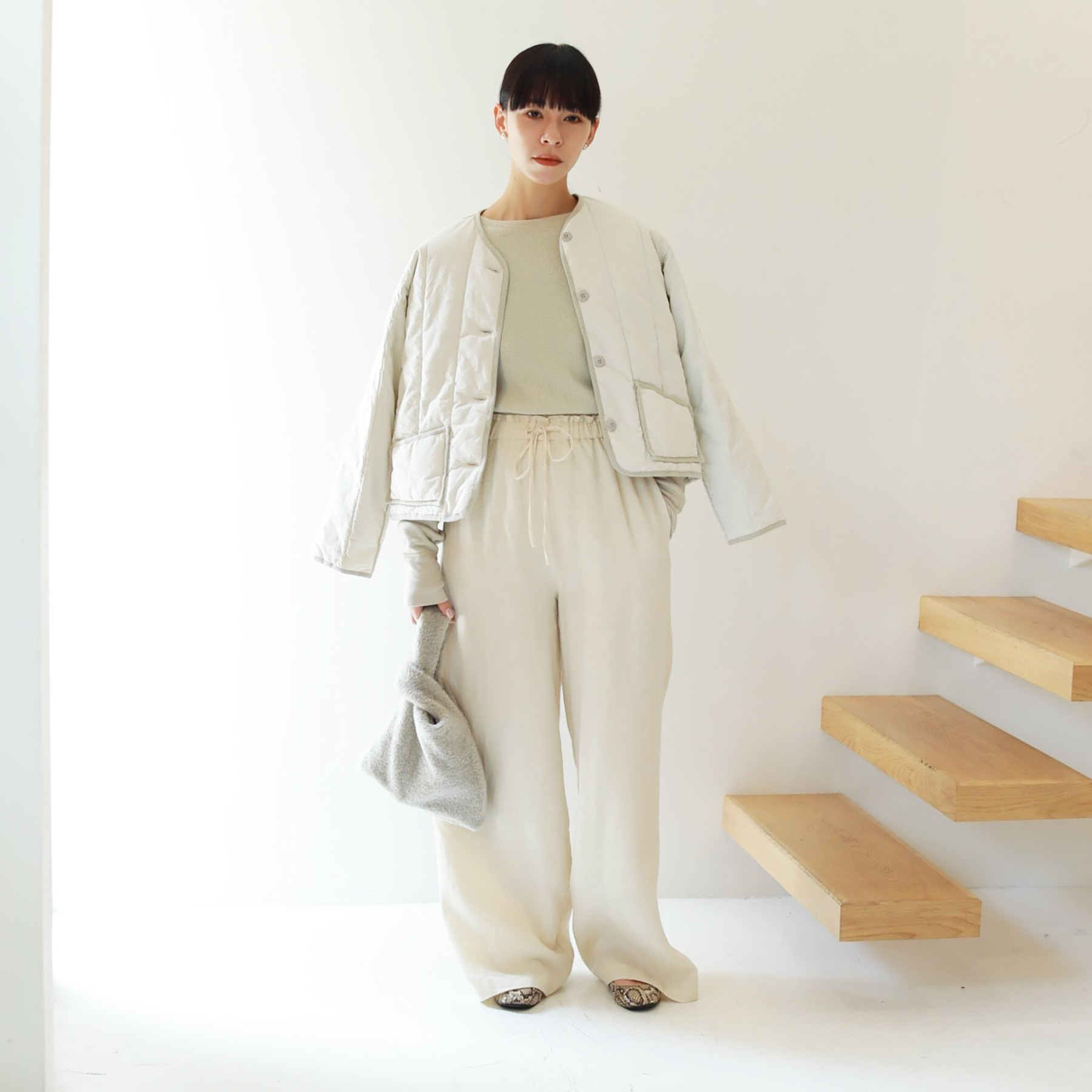 Quilting Compact Blouson