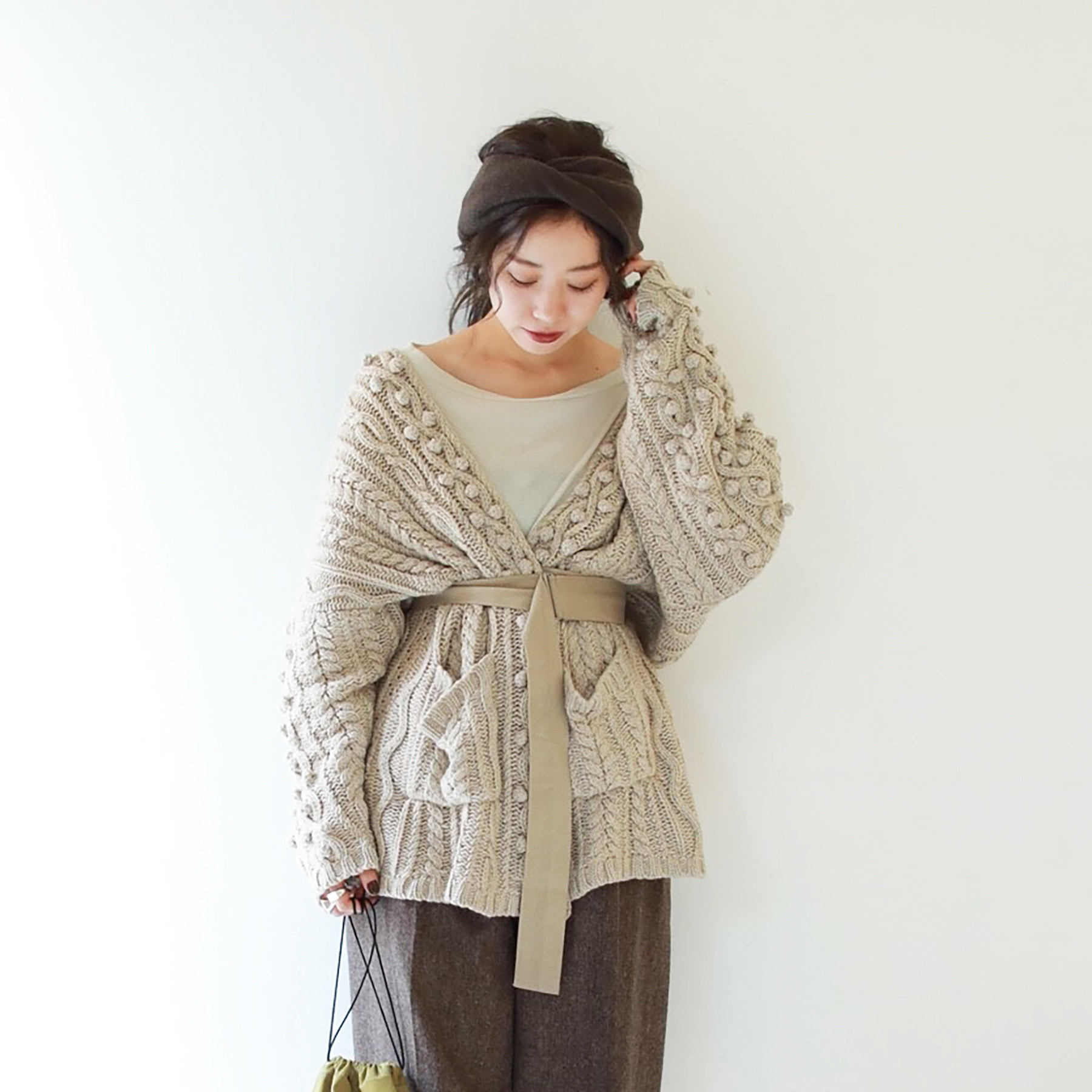 Aran Knit Cardigan