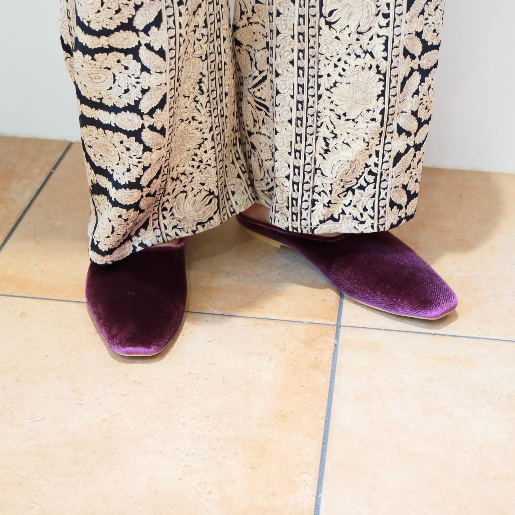 Velour Flat Shoes
