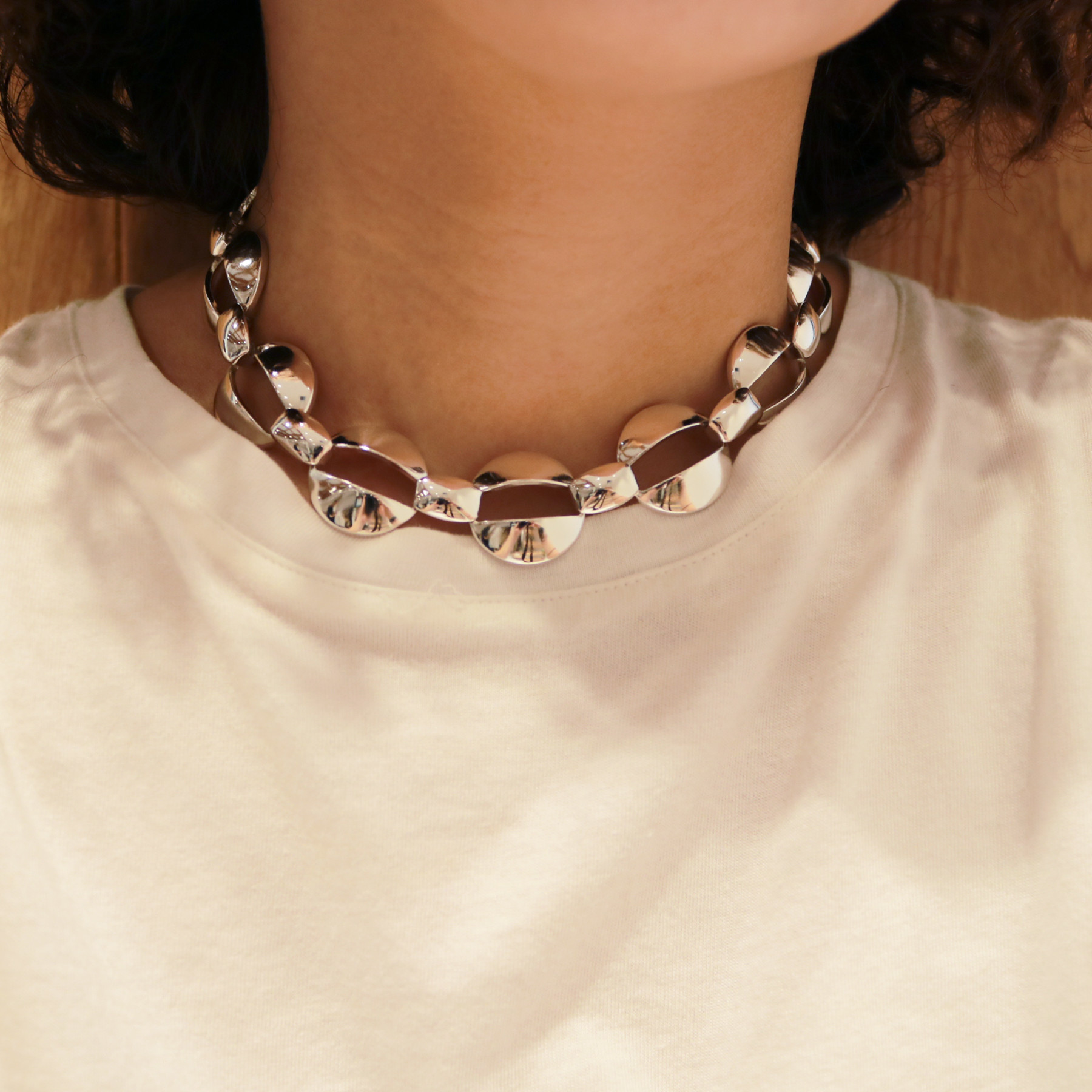 Wide Chain Choker