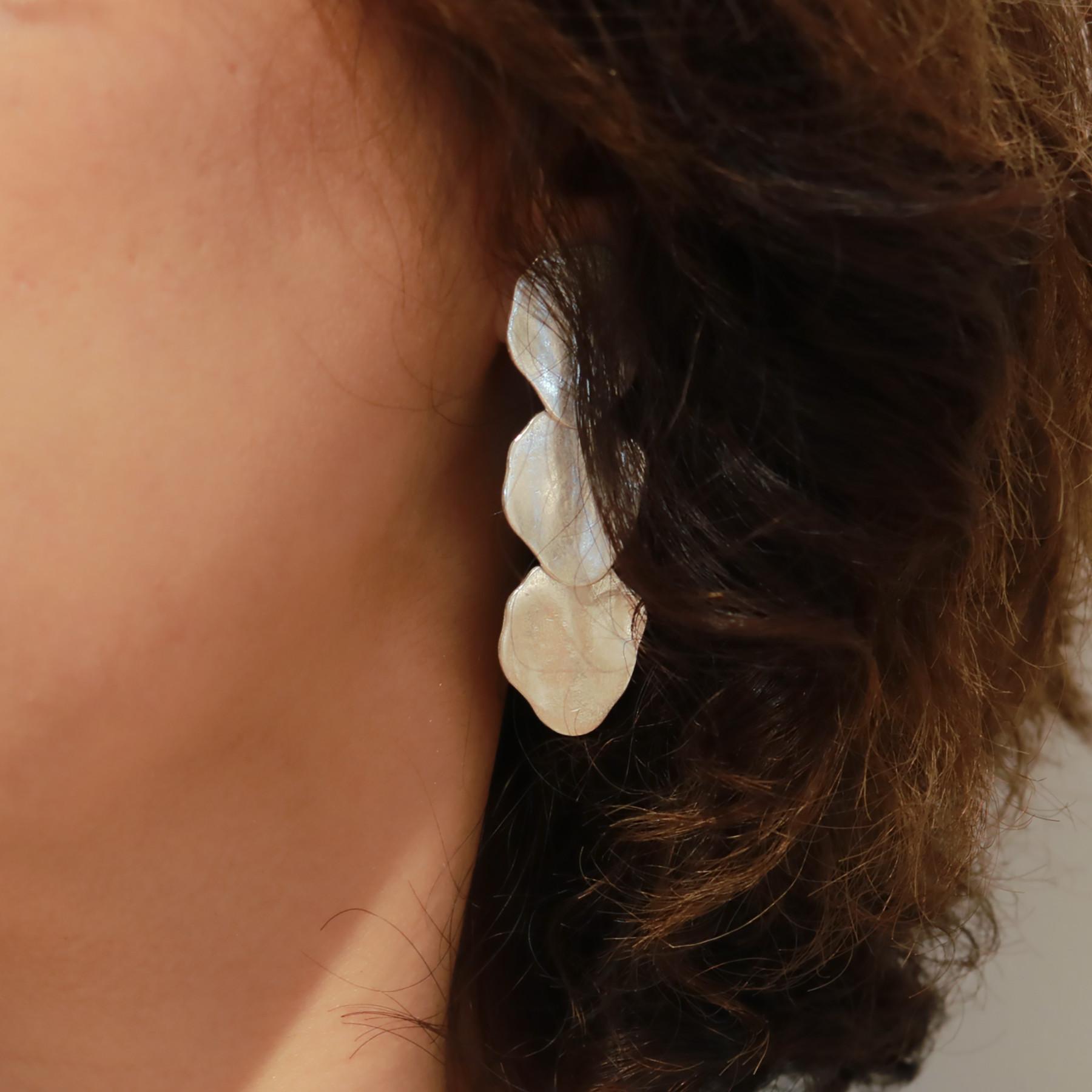 Three Plate Earring