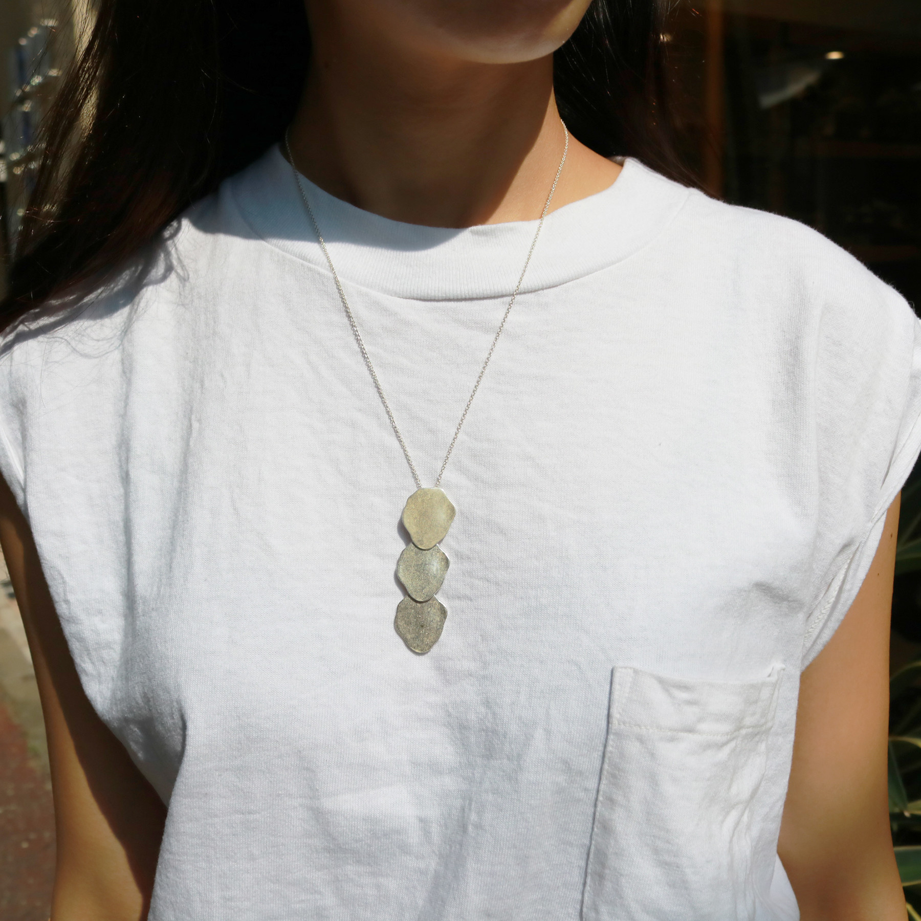 Three Plate Necklace