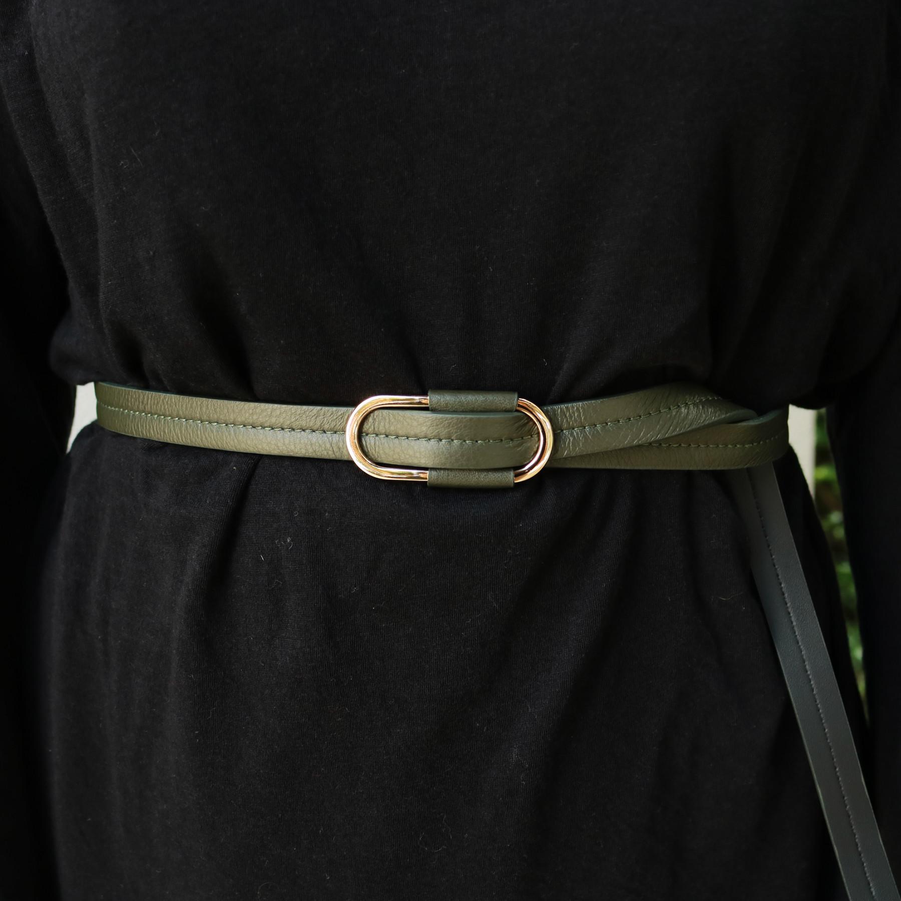 Oval Backle Belt