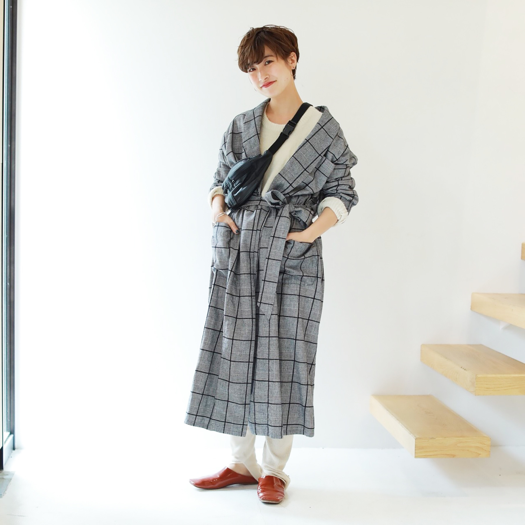 Brushed Check Gown