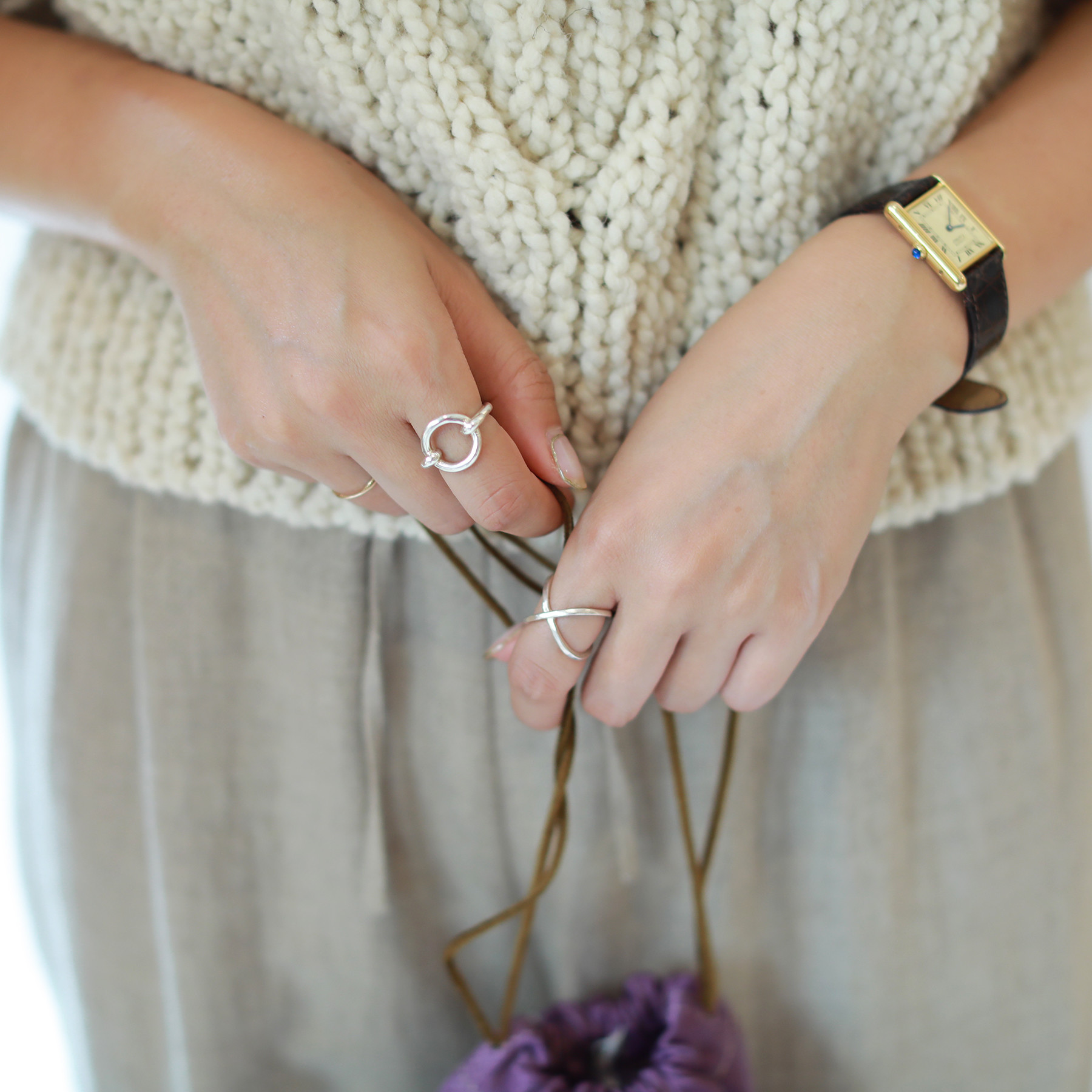 Oval Nuance Ring