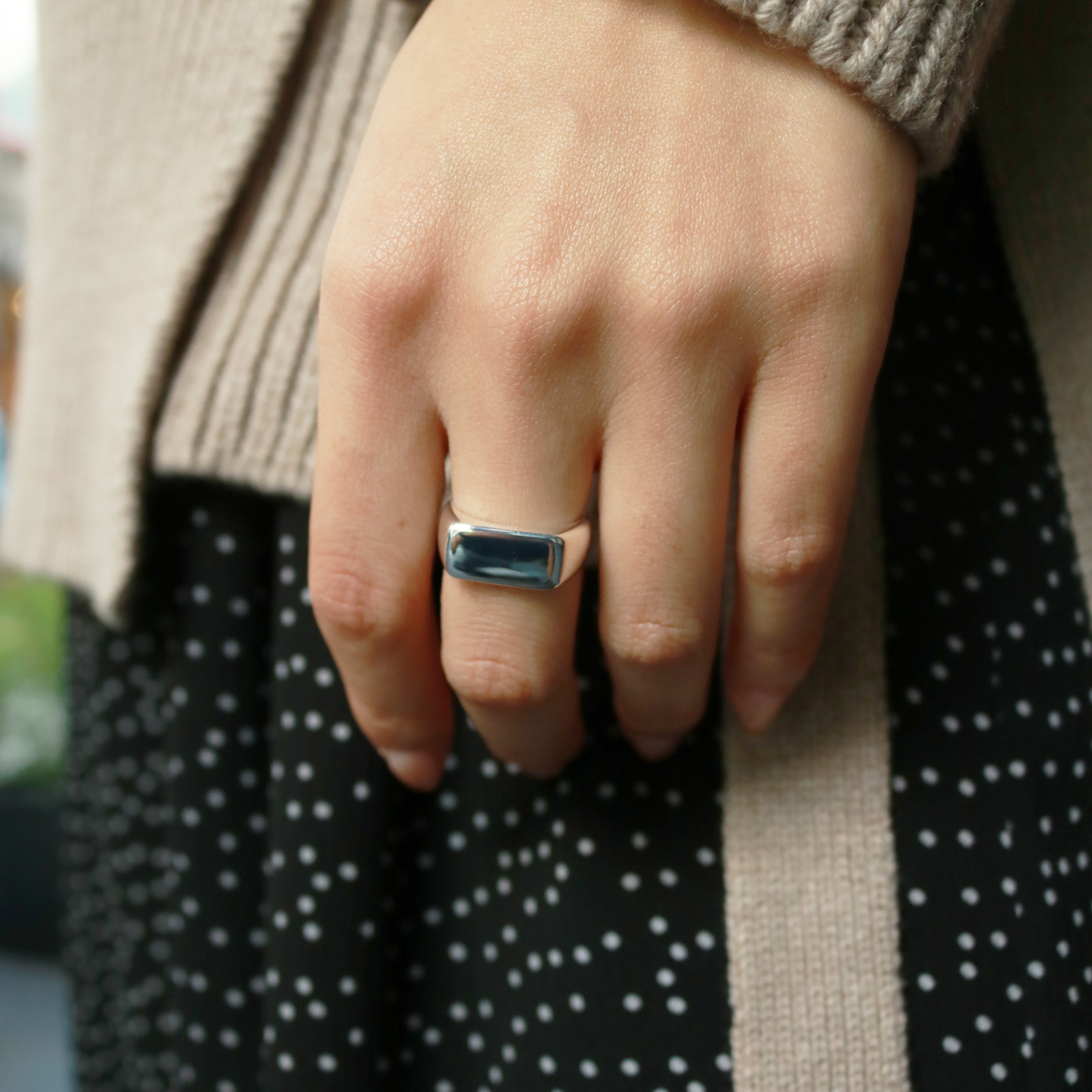 Square Plate Ring