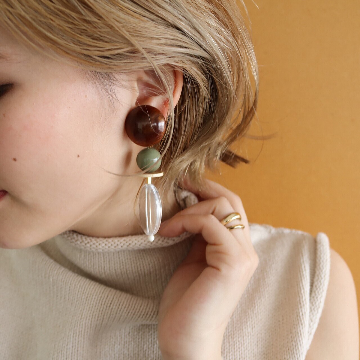 Marble Parts Earring