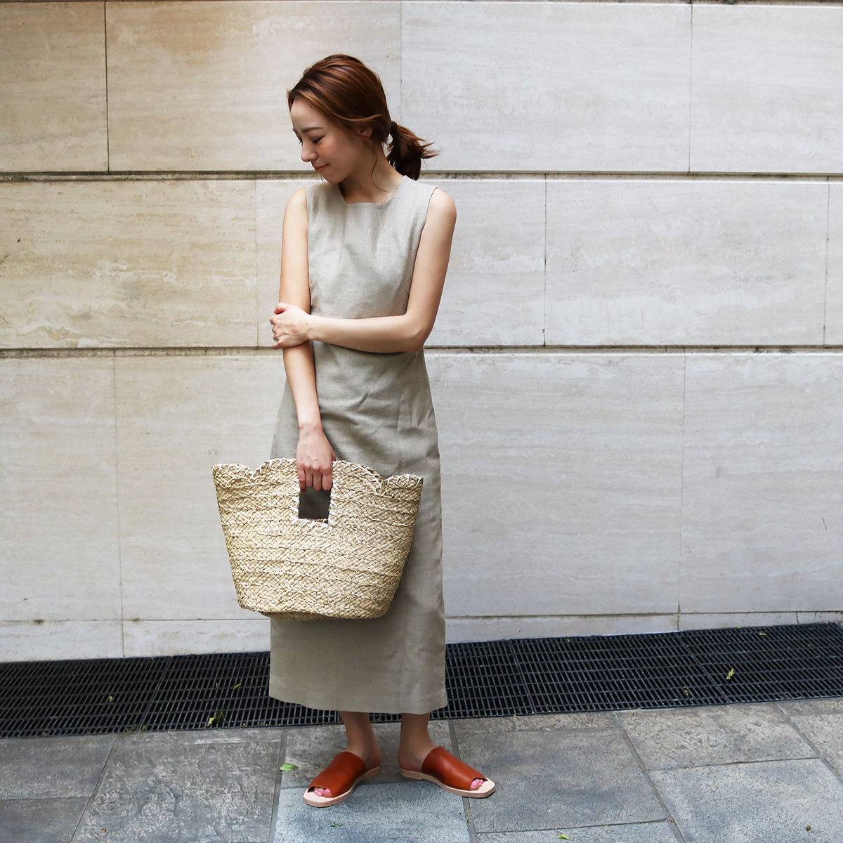 Stitch Raffia Bag