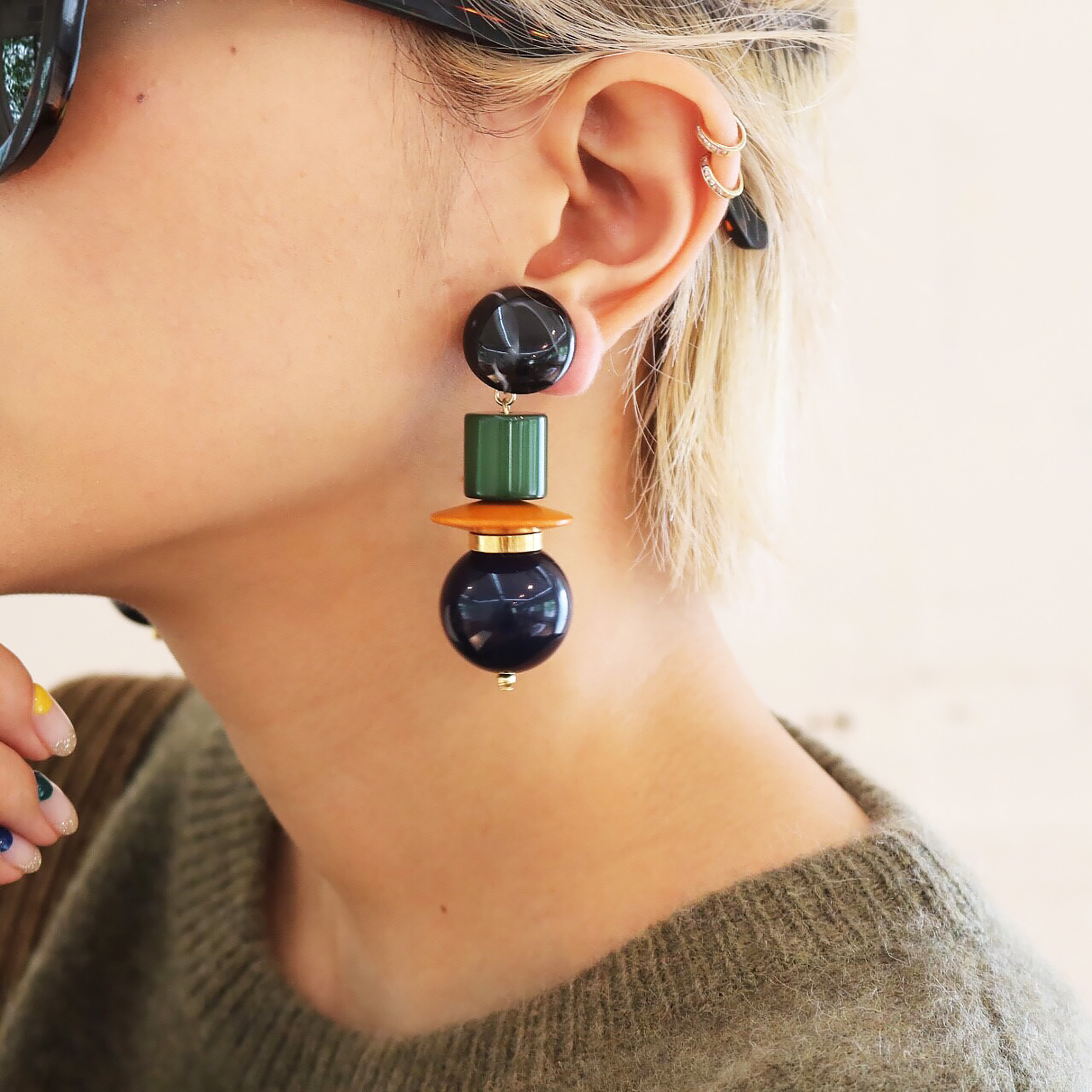 Wood Mix Earring
